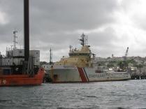 Heading into Falmouth marina.