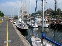 The last lock at the Kiel Canal