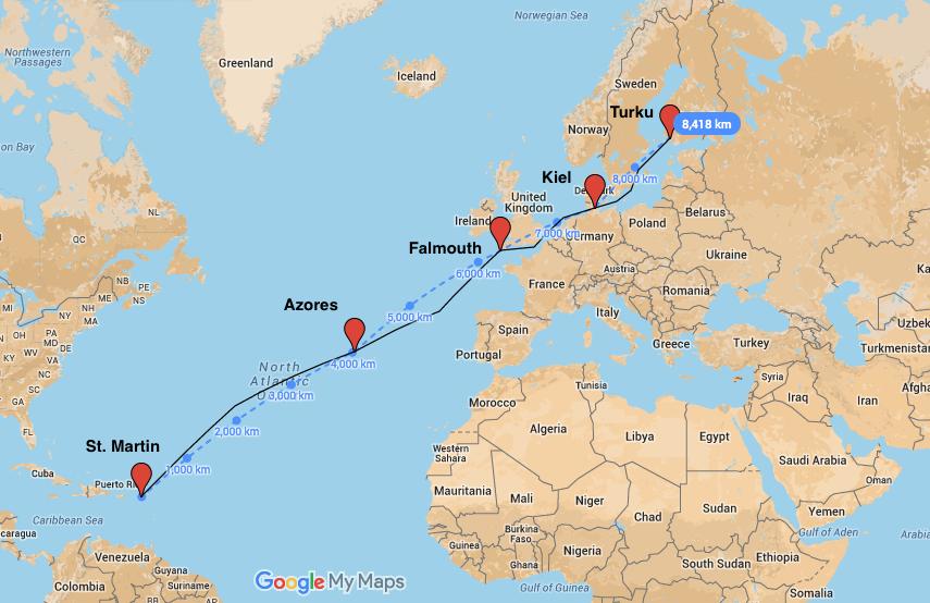 karta st martin Atlantic 2007 – Frida Pelin karta st martin