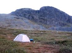Our camp att Meekonjärvi.