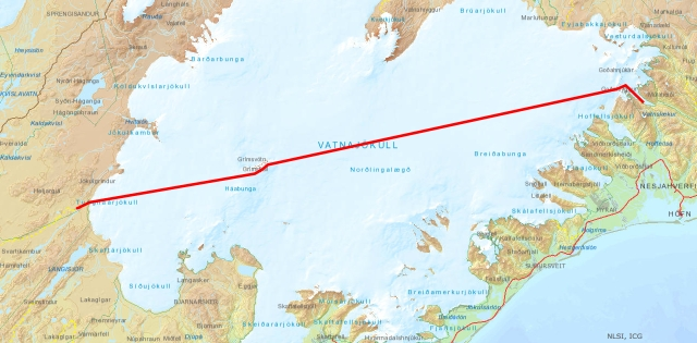 Our route from east to west.