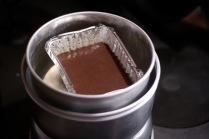 Aluminium foil pan placed into the Trangia pot.